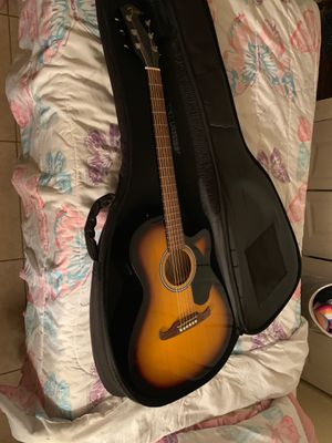 Fender guitar. Comes with a pick ,extra battery for tuner,case for Sale in Carol City, FL