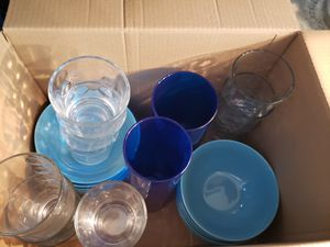 Plates bowls mugs from ikea. glassware and appliances for sale. make offers items work. Bought a furnished condo and we do not need the extra items. for Sale in Sarasota, FL