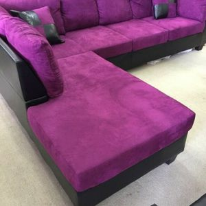 Purple Micro Fiber Sectional for Sale in Atlanta, GA