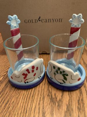 Gold Canyon Candles Snow Bear Votive Set of 2 for Sale in Alta Loma, CA
