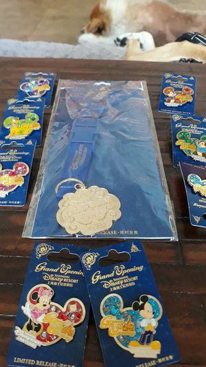 8 new limited release Disney Shanghai pins with lanyard for Sale in Boynton Beach, FL