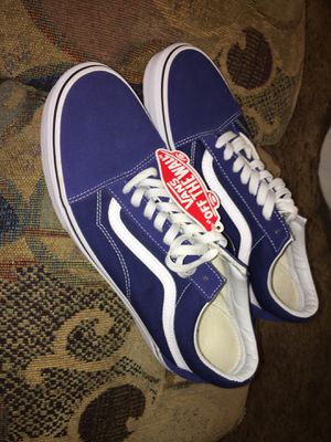 Vans Blue & White (Size 11.5) for Sale in Evansville, IN
