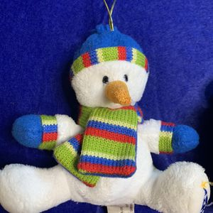 HugFunInc' Inc Stuffed Snowman And Bear Ornaments for Sale in Lowell, IN