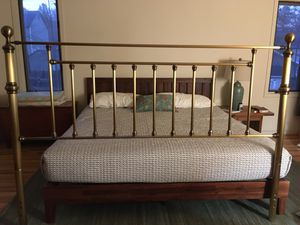 King size Brass bed and headboard for Sale in Richmond, VA