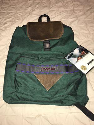 Vintage Jansport Rucksack backpack leather flap for Sale in Kirkland, WA