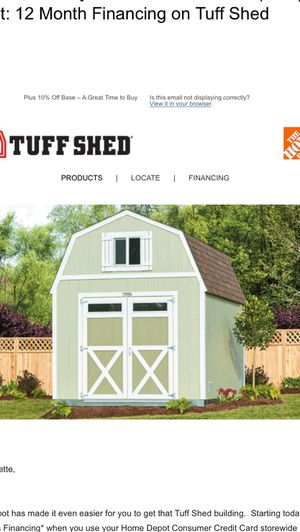 MEMORIAL DAY WEEKEND TUFF SHED / HOME DEPOT ++ FINANCING 12 MONTHS ++ for Sale in Las Vegas, NV
