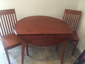 Wood Drop Leaf Table and Chairs for Sale in Manassas, VA