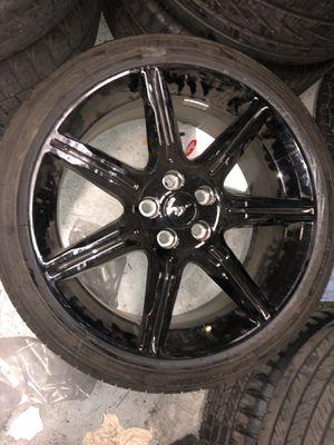 "2018 mustang rim 19"" gloss black for Sale in Fresno, CA"