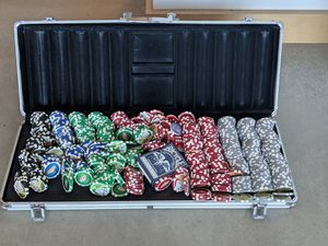 Poker chips and table top for Sale in Detroit, MI