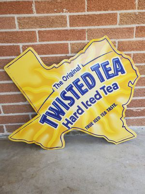 Twisted Tea tin sign Texas for Sale in Houston, TX