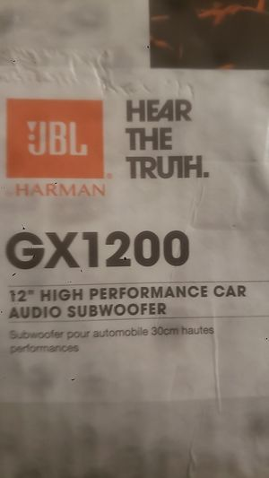 Jbl gx1200 12 in high performance car audio subwoofer for Sale in Lemon Grove, CA