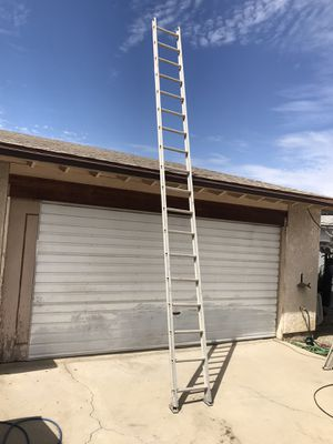 Werner 18' aluminum stick ladder escalera 18 pies feet foot in good condition $100 in Ontario 91762 for Sale in Montclair, CA