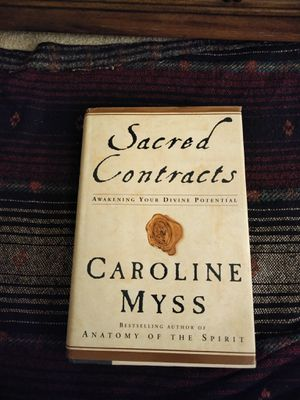 Sacred contracts by Caroline Myss for Sale in Aspen Hill, MD
