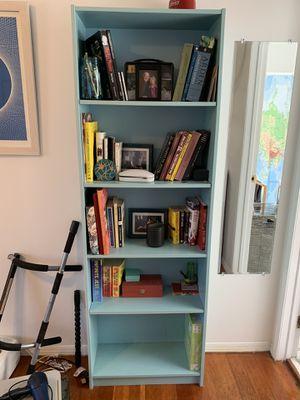 Sky blue bookshelf! for Sale in Los Angeles, CA