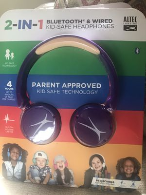 ALTEC 2-in-1 BLUETOOTH & WIRED KID SAFE HEADPHONES for Sale in Charlotte, NC