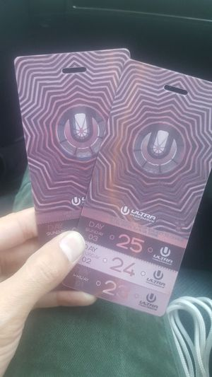 2 Ultra tickets Saturday & Sunday for Sale in US