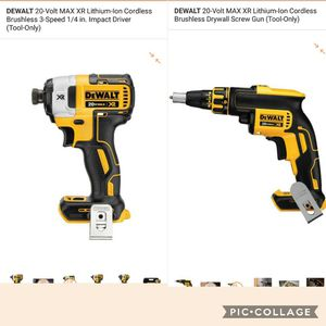 Drill de impacto XR + chirroquera XR 20V ((( TOOL ONLY)))) for Sale in Alexandria, VA