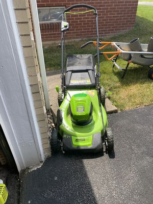 Greenworks pro 60v mower 40v weed eater leaf blower and hedge trimmer for Sale in Greensburg, PA