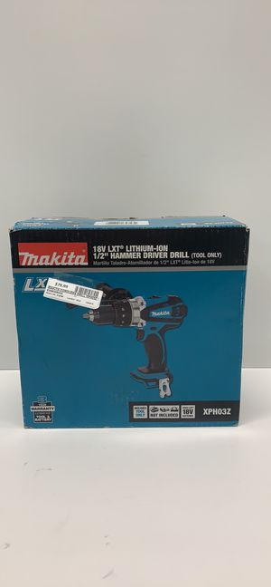NEW MAKITA XPH03Z 18-Volt LXT 1/2 in. Cordless Hammer Driver/Drill TOOL ONLY for Sale in Warren, MI