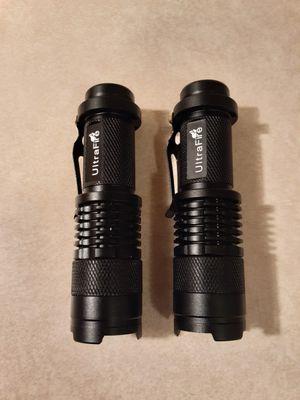Two 500 Lumen UltraFire LED Mini Flashlights for Sale in Las Vegas, NV