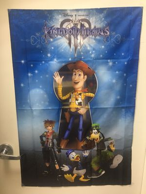 Kingdom Hearts III Fabric Poster for Sale in Elk Grove, CA