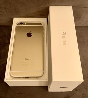Gold iPhone 6 factory unlocked for att TMobile cricket metro sprint boost Verizon/worldwide PRICE IS FIRM @140$ NO OFFERS for Sale in Las Vegas, NV