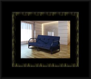 Black futon frame with mattress for Sale in Manassas, VA