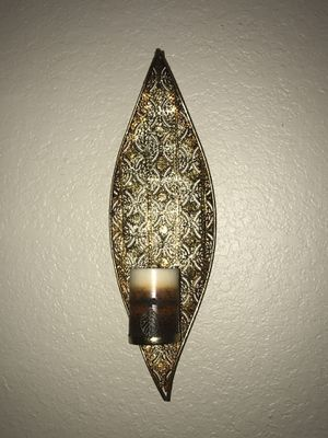 2 candle holders wall deco gold! for Sale in Auburndale, FL