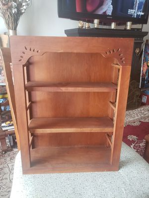 "VINTAGE WOOD WALL CURIO DISPLAY CABINET SHELVES 16X12"" for Sale in NEW PRT RCHY, FL"