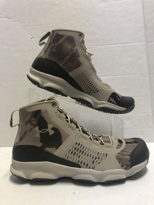 NEW HUNTING SHOES MENS MID HIKING BOOTS WATER REPELLENT ULTRA LIGHTWEIGHT SHOES MENS SIZE 8.5 UNDER ARMOUR SPEED-FIT for Sale in Portland, OR