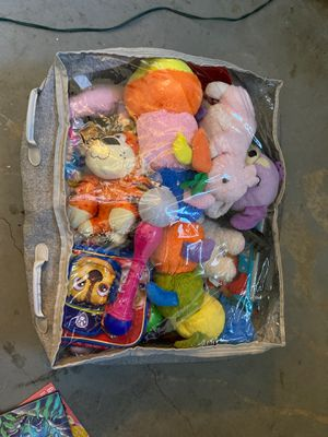 Bag of plushy and toys for Sale in Moreno Valley, CA