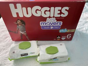 HUGGIES & WIPES $40 for Sale in Santa Ana, CA