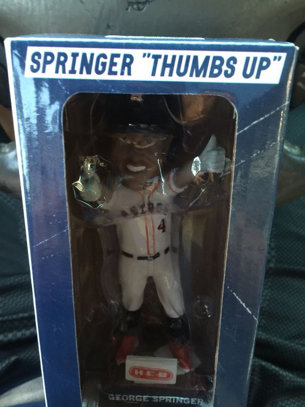 Springer bobblehead Astros thumbs up