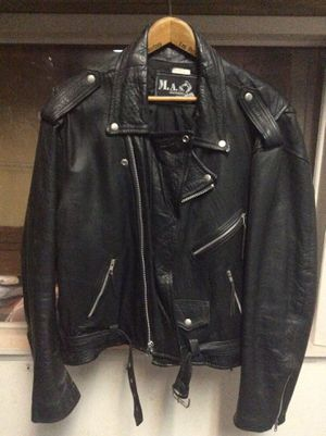 Leather motorcycle jacket double XL for Sale in Fullerton, CA