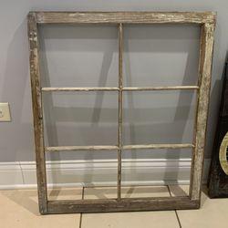 Vintage  Wooden Window Frame for Sale in Lemont, IL