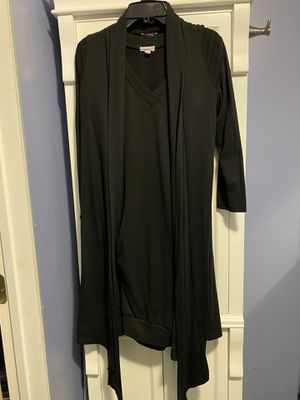 Women's Pretty Young Thing Cardigan (Size Med) & Zenana Outfitters Long Shirt/Dress (Size Large) Both Black (Firm Price) for Sale in Carrollton, TX