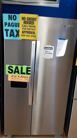 ⭐Whirlpool side by side refrigerator ⭐️APPLIANCES IN PAYMENTS⭐️ ❌NO CREDIT NEEDED🦋ASK FOR ANNA FOR DISCOUNT🦋 for Sale in Upland, CA