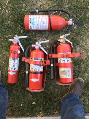 Lot of Fire Extinguishers and Brackets (all expired) for Sale in Vallejo, CA