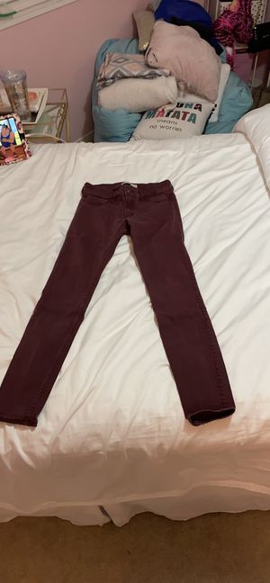 Maroon Abercrombie and Fitch jeans for Sale in Greenacres, WA