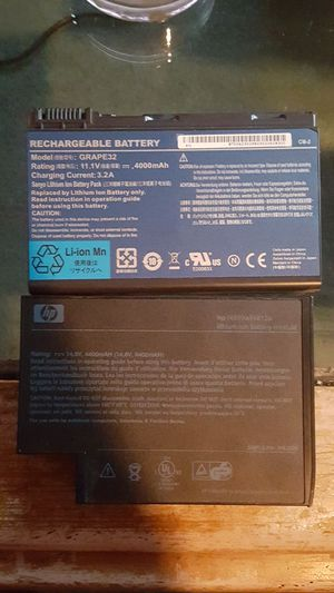 HP ACER LAPTOP Battery notebook rechargeable for Sale in Teaneck, NJ