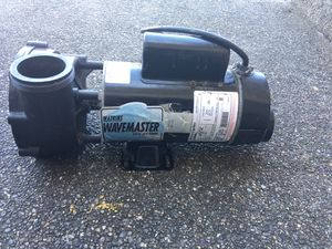 Wavemaster 1.5hp 2 speed spa/pool pump for Sale in Seattle, WA