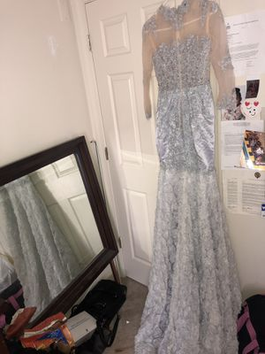 Silver long styled mermaid dress for Sale in Woodbridge, VA