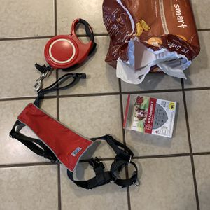 Dog Supplies: Harness (L), Puppy Pads, K9 Advantix, Retractable Leash With Flashlight for Sale in Clarksburg, CA