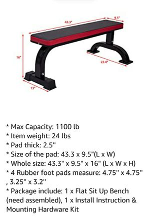 Flat weight bench for Sale in North Ridgeville, OH