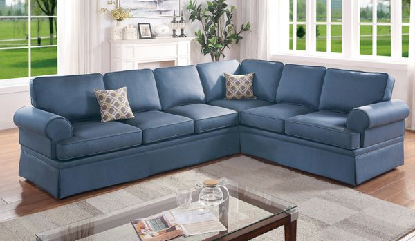 Elegant Sectional Sofa Couch w/ Skirt Comfy Fabric