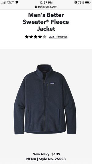 NWT Patagonia Men's Better Sweater Fleece Jacket XL for Sale in San Diego, CA