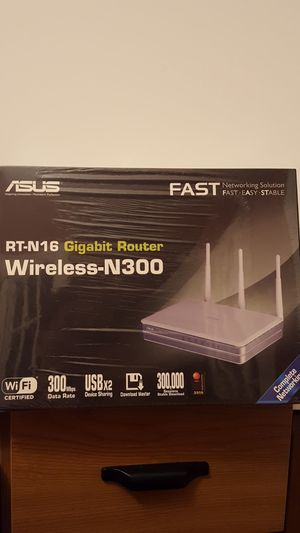 ASUS RT-N16 Gigabit Router Wireless-N300 for Sale in Louisville, KY