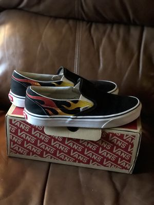 Flame Slip on Vans for Sale in Florence, SC