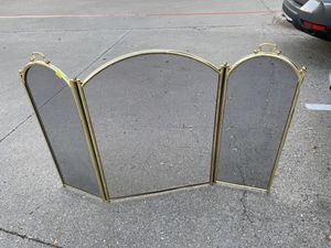 Fireplace brass screen cover for Sale in Lewisville, TX