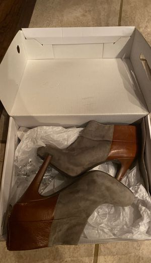 gray suede and brown leather shoe boot for Sale in Katy, TX